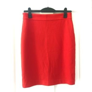 Ann Taylor Factory Tomato Red Skirt, Size 8